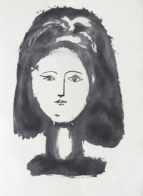 Pablo Picasso, 'Face of a woman framed with abundant hair', 1948, Eames Fine Art