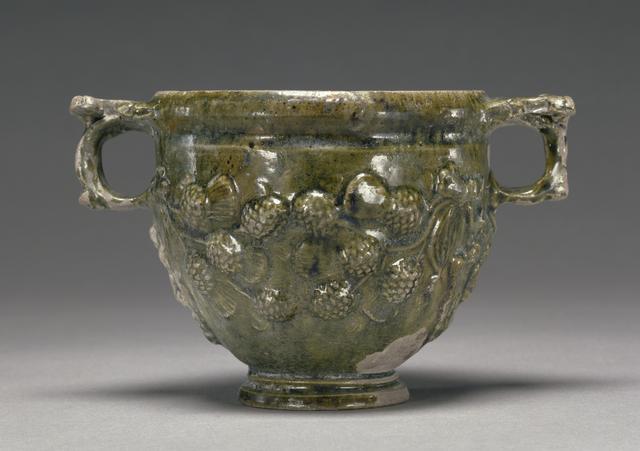 'Lead-Glazed Skyphos',  50 B.C. -A.D. 50, J. Paul Getty Museum