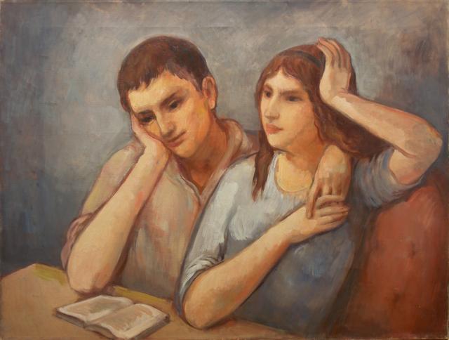 Bernard Karfiol, 'George and Virginie Reading Book', ca. 1924, Forum Gallery