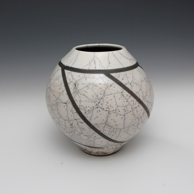 Danucha Brikshavana, 'White Crackle Raku Vase', 2019, Springfield Art Association
