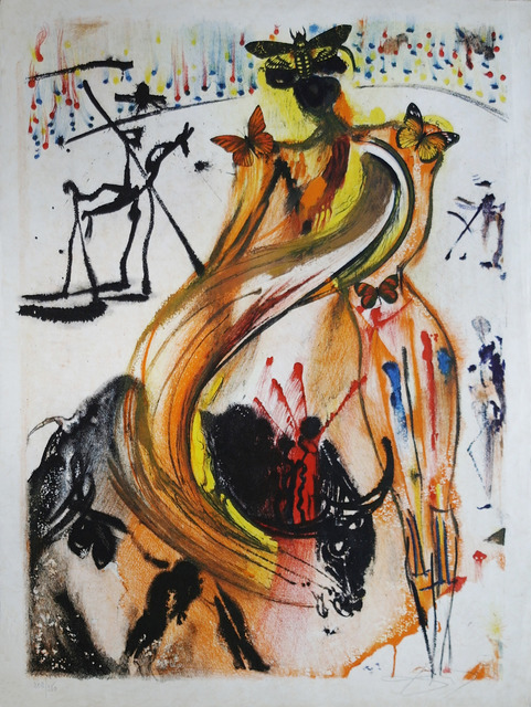 Salvador Dalí, 'Bullfighter', 1972, Print, Lithography on Japanese paper, Art Works Paris Seoul Gallery