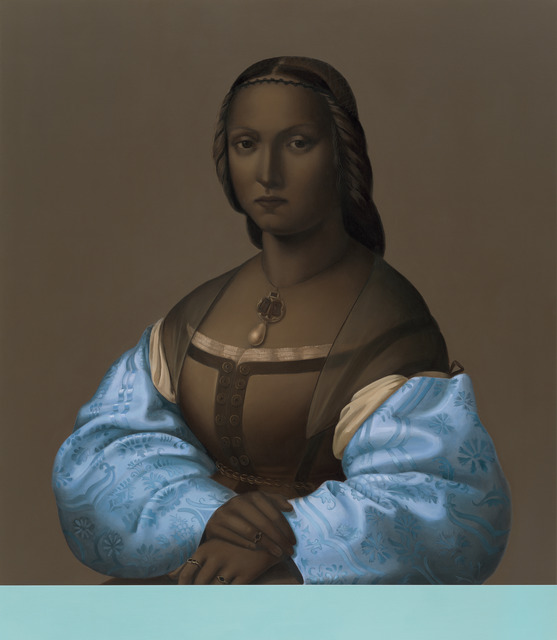 , 'Woman with Blue Sleeves,' 2013, Galerie Michael Sturm