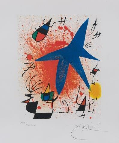 Joan Miró, 'L'Astre Bleu [Mourlot 857]', 1972, Roseberys