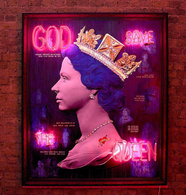 Mark Sloper, 'Blue Punk Queen', Flat Space Art