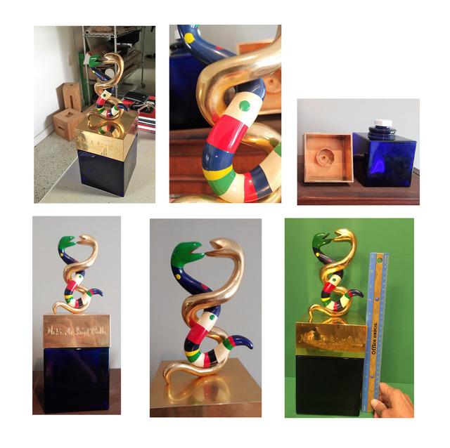 "Niki de Saint Phalle, ''Serpent', Store Display Bottle, RARE, 14"" Tall', ca. 1980, VINCE fine arts/ephemera"