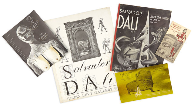 Salvador Dalí, 'Group of interesting Julien Levy Gallery exhibition items', Doyle