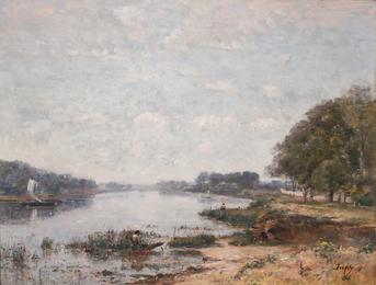 Paysage en bord de Seine