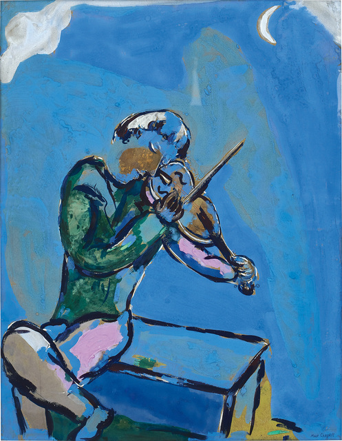 Marc Chagall, 'Le violoniste bleu', 1929, Phillips