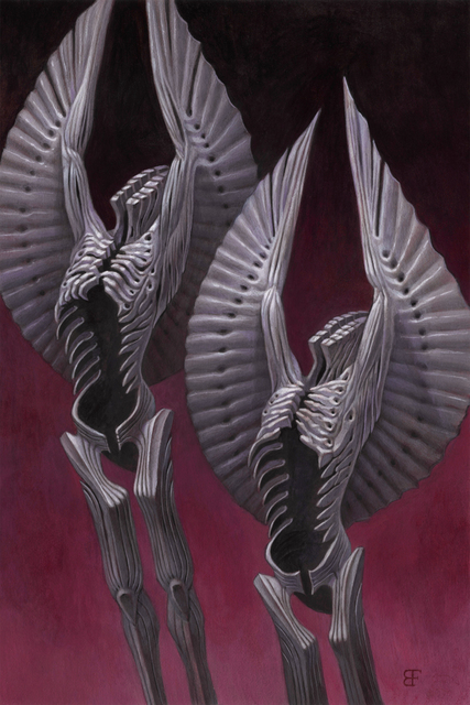 , 'Twin Black Angels,' 2019, Haven Gallery