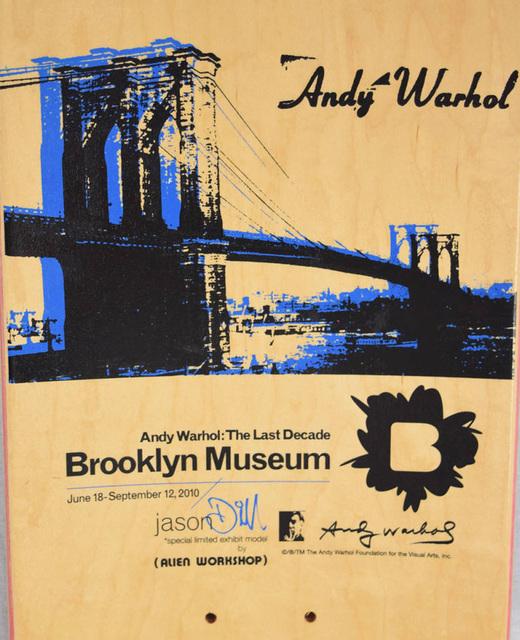Andy Warhol, 'Warhol Brooklyn Bridge Skateboard Deck (Brooklyn Museum)', ca. 2009, Lot 180