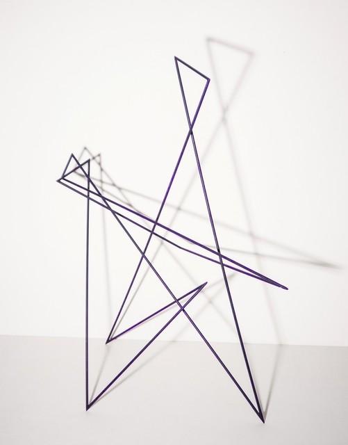 , 'Trait 54 violet,' 2014, Galerie Marie-Robin