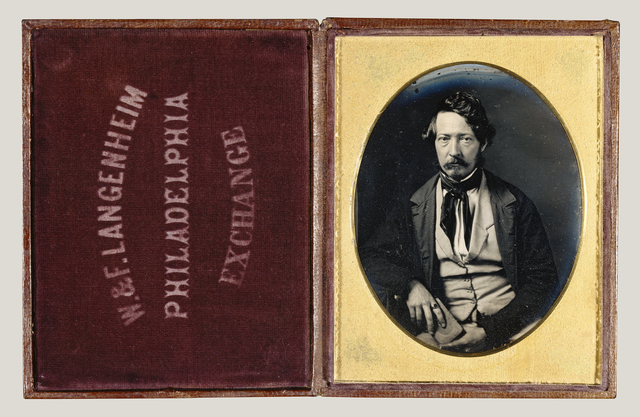 , 'Portrait of Frederick Langenheim,' ca. 1848, J. Paul Getty Museum