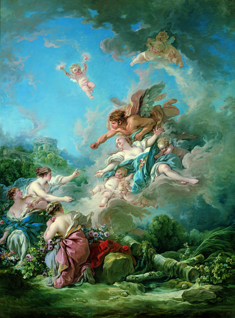, 'Boreas Abducting Oreithyia,' 1769, Legion of Honor