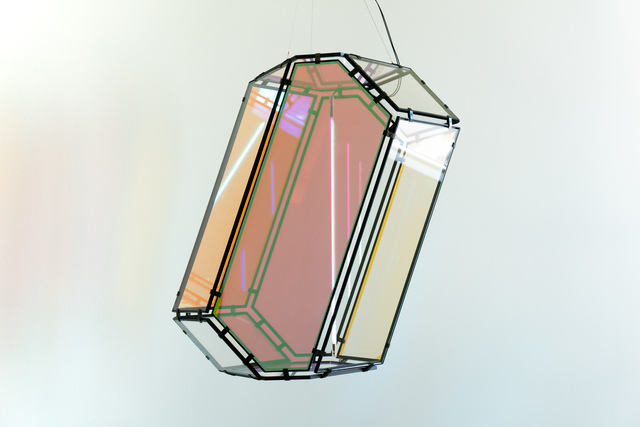 Olafur Eliasson, 'Flatland light', 2018, Sculpture, Colour-effect filter glass (red, green), stainless steel, fluorescent light, balast, paint (black), cable, i8 Gallery