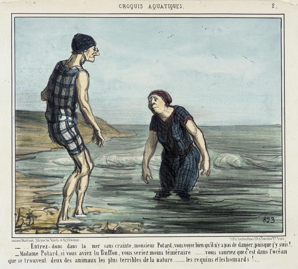Entrez donc dans la mer sans crainte... (Enter the sea without fear...)
