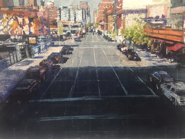 , 'Street Scene: From the Highline,' 2015, Aicon Gallery