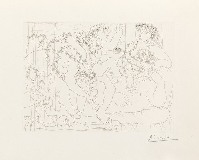 Pablo Picasso, 'Sculptor, Boy and Model with a Carved Group Representing the Abduction of Europa', Christopher-Clark Fine Art