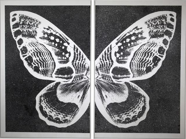 Rubem Robierb, 'Hybrid Silver Butterfly I on Black', 2016, Taglialatella Galleries
