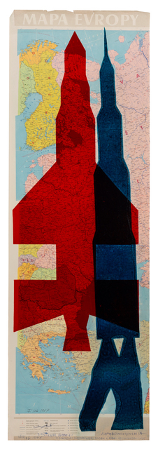 , 'Map of Europe (Rockets),' 1967, The Mayor Gallery