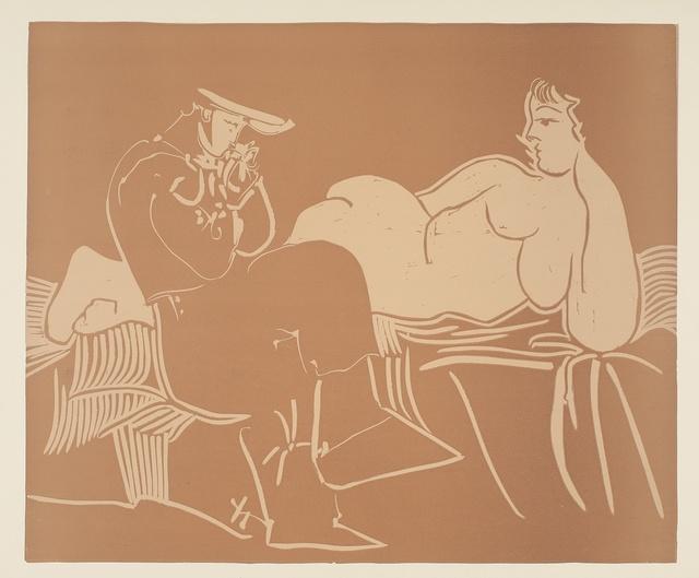Pablo Picasso, 'L'Aubade, avec femme accoudée (Ba. 1233)', 1959, Sotheby's