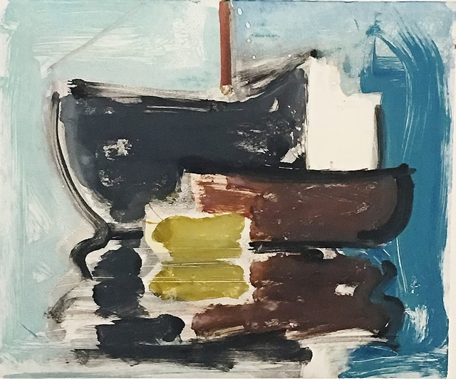 , 'Red, Grey and Yellow Boats,' 1999, Lawrence Fine Art