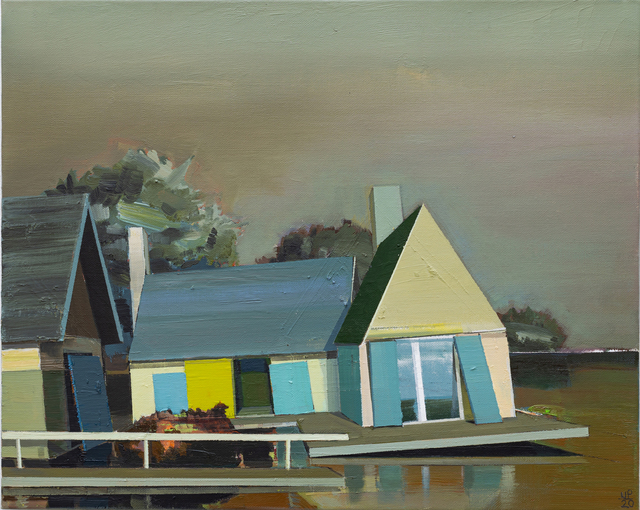 Ulf Puder, 'An der Brenz', 2020, Painting, Oil on canvas, Akinci