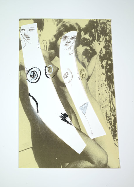 Richard Prince, 'New Figures', 2015, Print, 16 color silkscreen with collage on Coventry Rag and Lanaquarelle, Two Palms