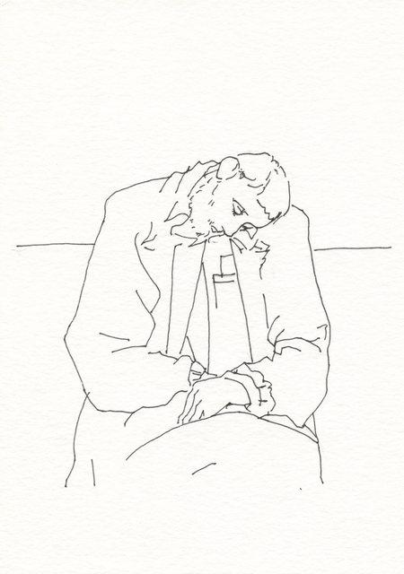 Tony Toscani, 'Asleep on the Train', 2019, Massey Klein Gallery