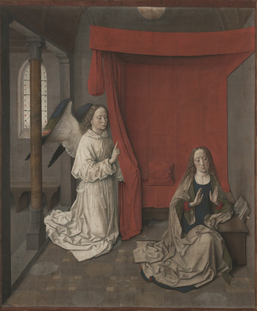 Dieric Bouts, 'The Annunciation', 1450-1455, J. Paul Getty Museum