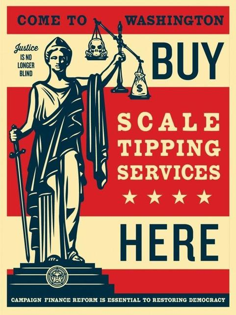 Shepard Fairey, 'Scale Tipping Services', 2014, Artsnap