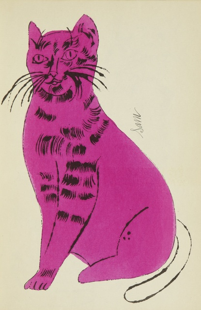 Andy Warhol, '25 Cats Name[d] Sam and One Blue Pussy (F. & S. IV.52A - 68A)', circa 1954, Sotheby's