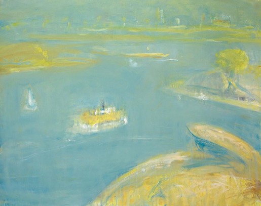 Lloyd Rees, 'The Morning Ferry', 1981, Painting, Oil on Canvas, Liverpool Street Gallery