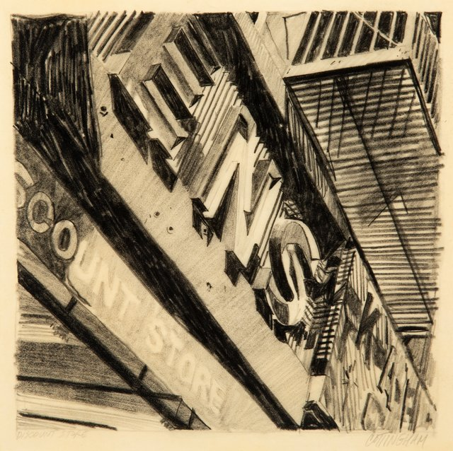 Robert Cottingham, 'Discount Store', 1970, Drawing, Collage or other Work on Paper, Pencil on paper, Heritage Auctions