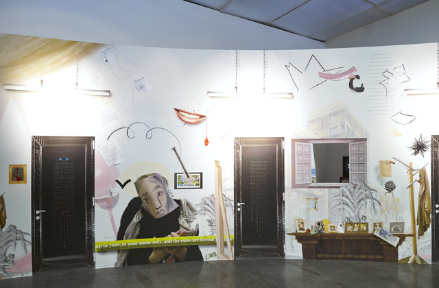 ", 'Installation view, ""Laure Prouvost: For Forgetting"" at the New Museum,' 2014, New Museum"