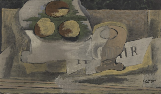 Georges Braque, 'Nature Morte aux Peches (Still Life with Peaches)', 1920, Yale University Art Gallery