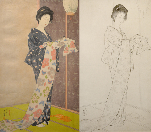 , 'Woman in Summer Kimono (w/ Key Block),' 1920, Ronin Gallery