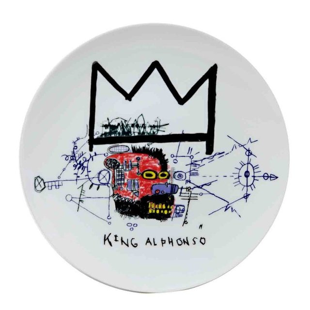 Jean-Michel Basquiat, 'King Alphonso porcelain plate', MSP Modern