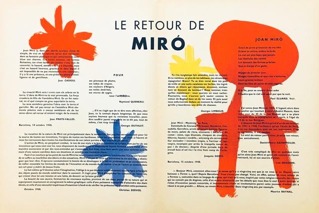 Joan Miró, 'From 'Derrière le Miroir - Miró'', 1948, Eames Fine Art