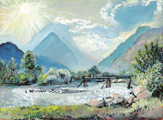 , 'View over the river Saalach to the Loferer Steinberge,' 1943, Galerie Kovacek & Zetter