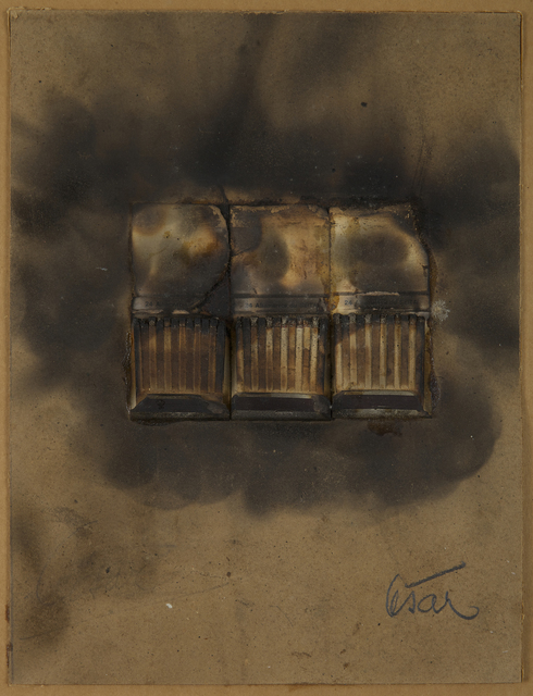 , 'Combustion d'allumettes,' 1977, Galerie Zlotowski
