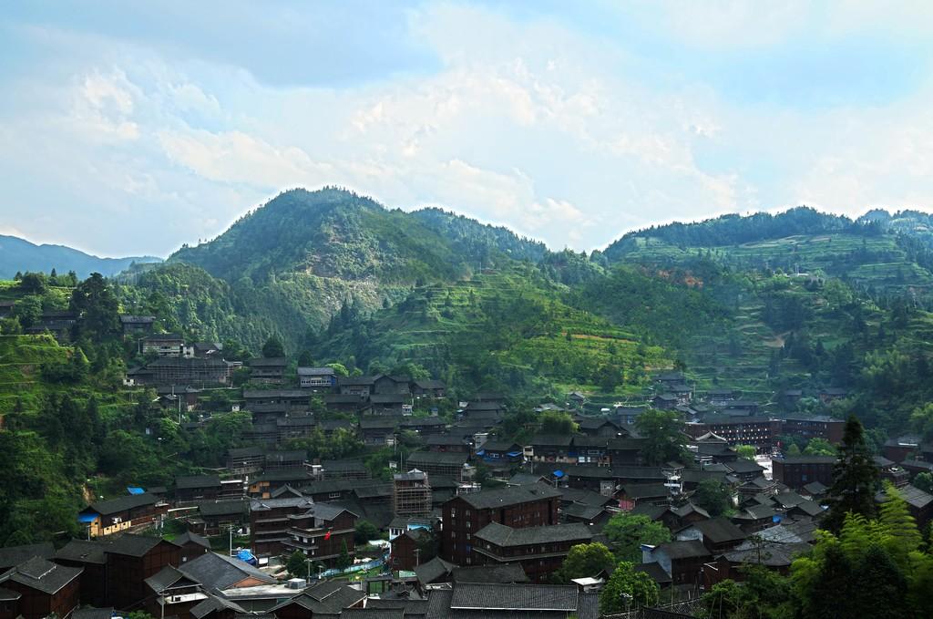 Concept: the landscape of Datang Village, Qiandongnan, Guizhou Province