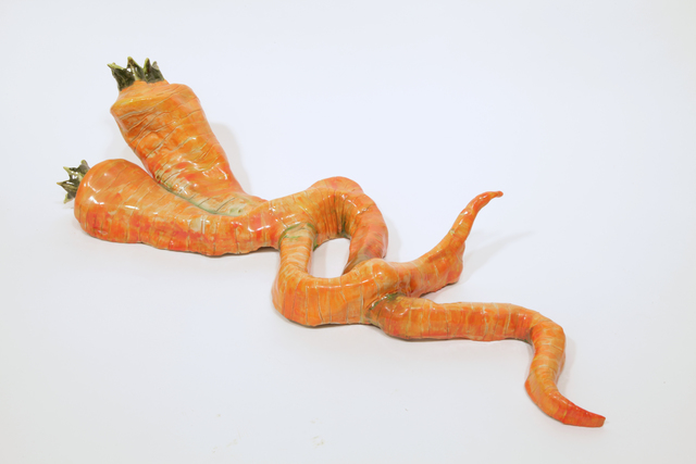 , 'Carrot Snakes,' 2016, Burning in Water
