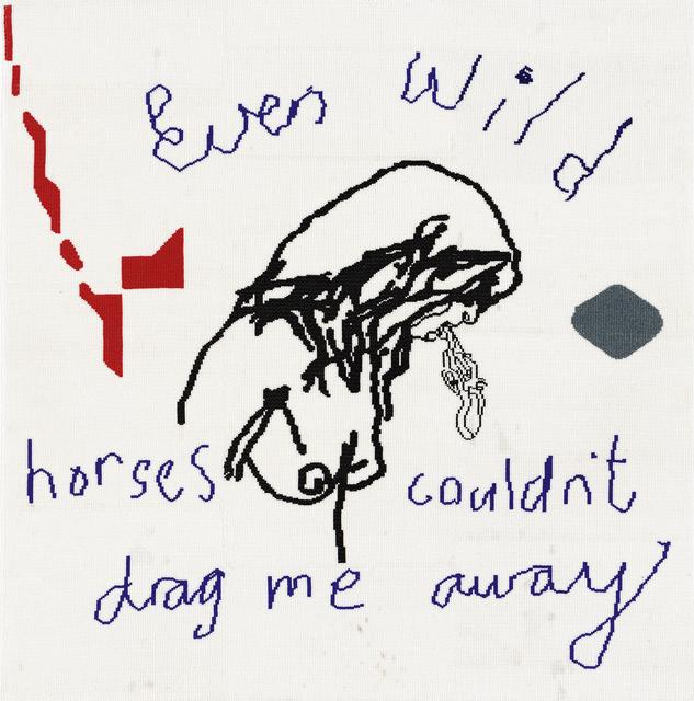 Wayne Barker, 'Wild Horses', Other, Beaded panel, Strauss & Co