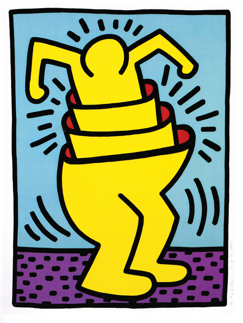 Keith Haring, 'Untitled (Cup Man)', 1989, Taglialatella Galleries