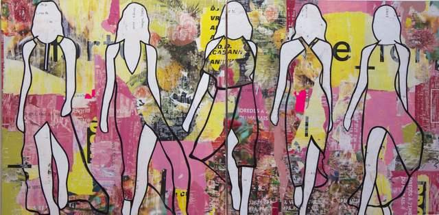 , 'Floral Walking Girls Diptych,' , Joanne Artman Gallery