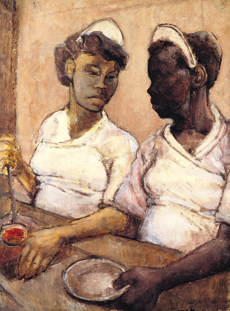 , 'West Indian Waitresses,' ca. 1955, Ben Uri Gallery and Museum