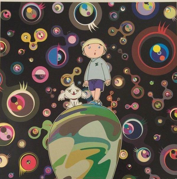 Takashi Murakami, 'Jellyfish Eyes - Black', 2015, Kings Wood Art