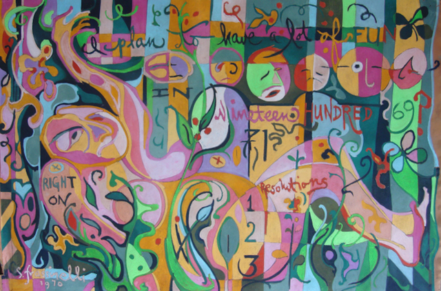 Sarah Frassinelli, 'P11, I plan to have a lot of fun in Nineteen Hundred 71', 1970, Drawing, Collage or other Work on Paper, Pastel on Paper, ARC Fine Art LLC
