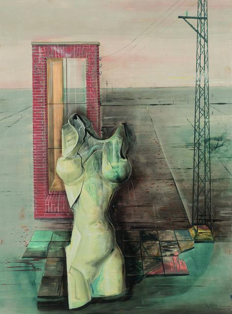 , ''Weiblicher Torso vor Industrielandschaft',' ca. 1938, Galerie Valentien