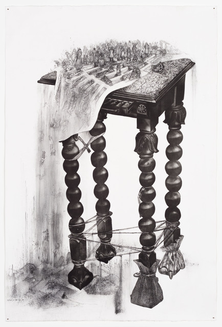 , 'Sweeping the Table,' 2018, Goodman Gallery